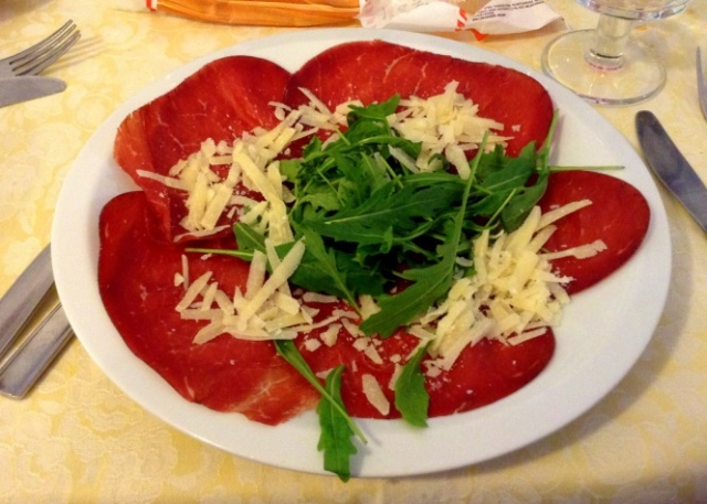 Bresaola – a typical summer dish in Friuli
