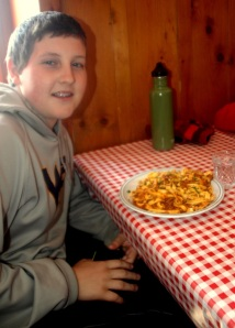 AJ had fresh taglietelle with meat ragout