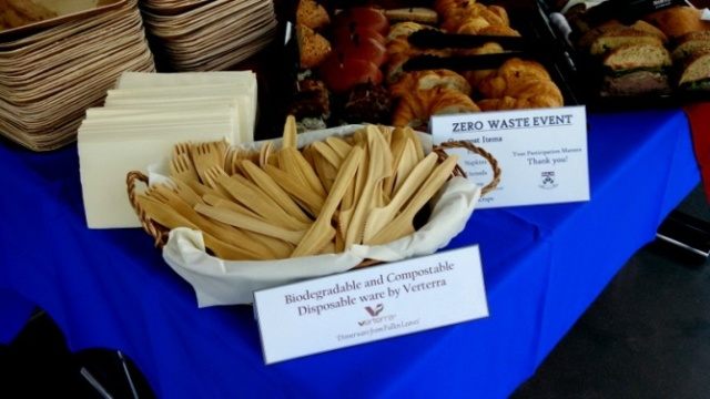 Zero waste informational event at the University of Pennsylvania