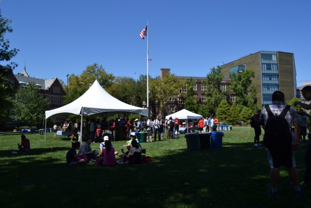 Barbecue on Shoemaker Green - Penn's open green space